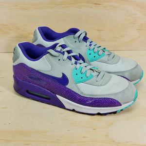 Nike Air Max 90 Blue Purple Running Training EUC